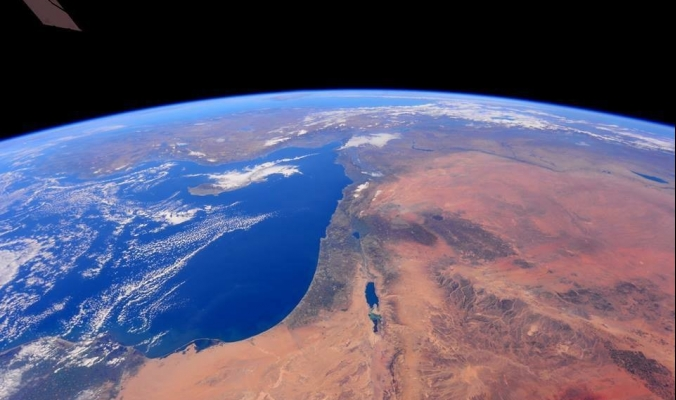 فلسطين كما تظهر من محطة الفضاء الدولية