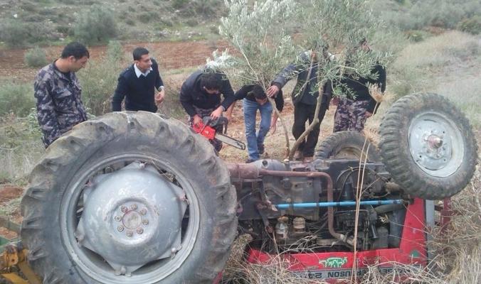 مصرع المواطن هاشم أبو الرب أثناء صيانة جراره الزراعي