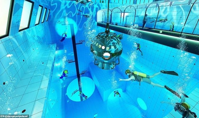 بالصور| تعرف على أعمق حوض سباحة في العالم