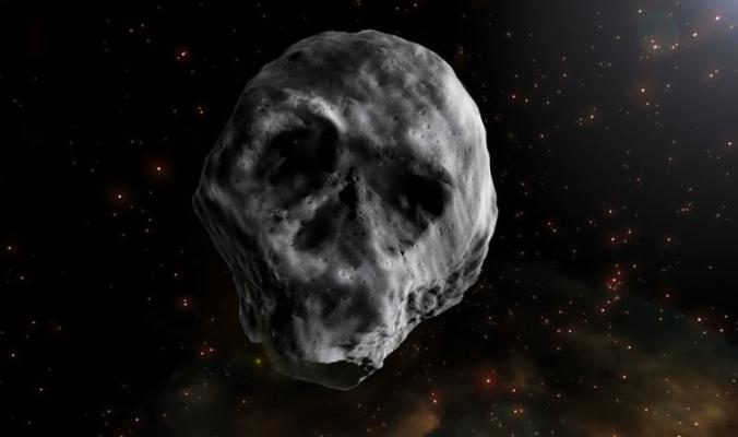 كويكب على شكل جمجمة يقترب من الأرض