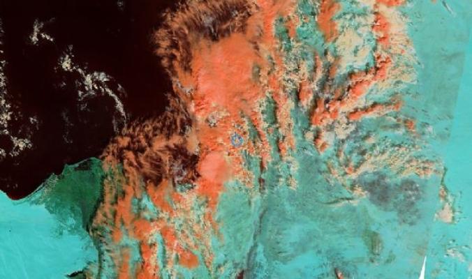 غيوم ضخمة تغطي شرق البحر المتوسط واجزاء واسعة من بلاد الشام جالبة أول الخير