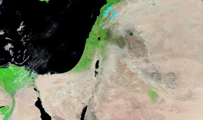 أقمار ناسا ترصد الغطاء الربيعي الأخضر وهو يغطي مساحات واسعة من فلسطين وسواحل الشام 2/2/2018