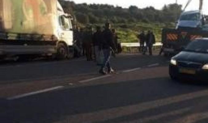 بالصور| 4اصابات بينها خطيرة بحادث سير في رام الله