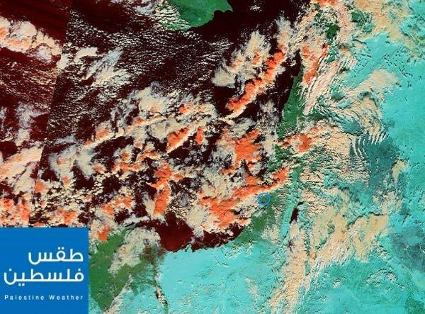 من ارتفاع 367 كم.. غيوم إندور الكثيفة الركامية تغطي سماء فلسطين وشرق المتوسط اليوم
