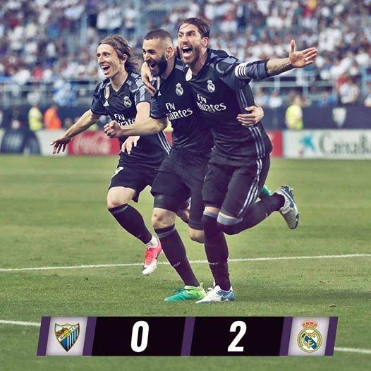 ريال مدريد يغزو الأندلس ويعيد لقب الليجا لأحضانه بعبور مالاجا