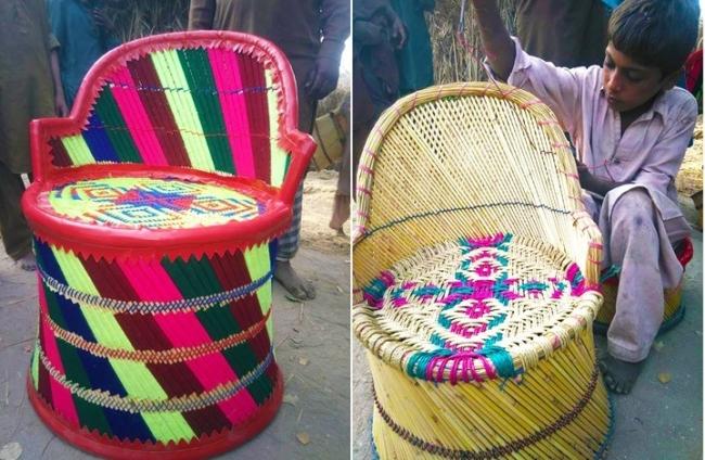 هل تعرف قصة الأطفال صانعي الكراسي الملونة بباكستان؟ (صور)