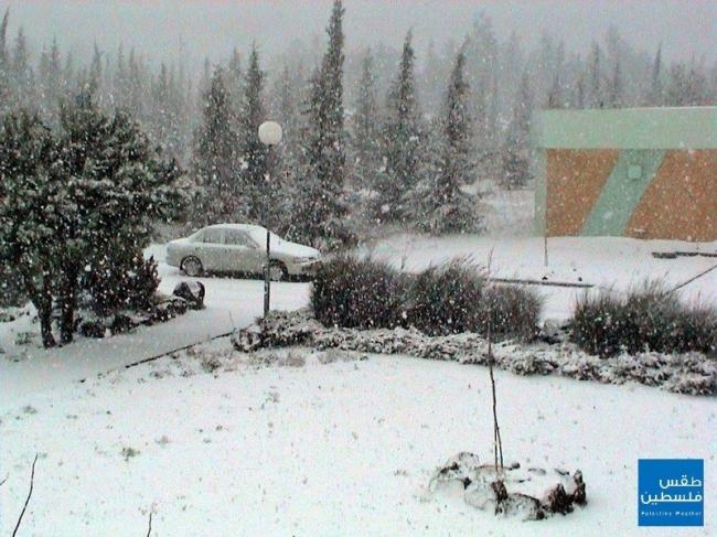 في مثل هذا اليوم عام 2004 ..الثلوج تغطي جبال فلسطين بكثافة