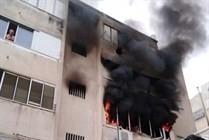20 إصابة بينهم 4 خطيرة بحريق في بناية سكنية في حيفا
