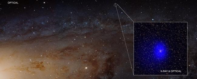 ثقبان أسودان هائلان يفسدان صورة مجرة أندروميدا