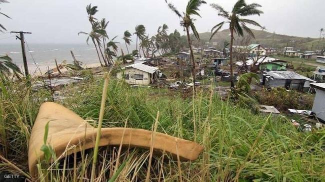 """فيجي """"تنجو"""" من إعصار جيتا القوي"""