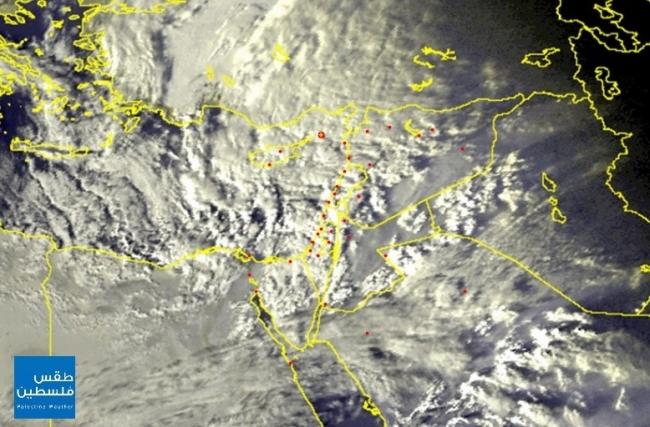 إزدحام في سواحل شرق المتوسط ...كميات كبيرة من الغيوم الماطرة تتوافد نحو البلاد !