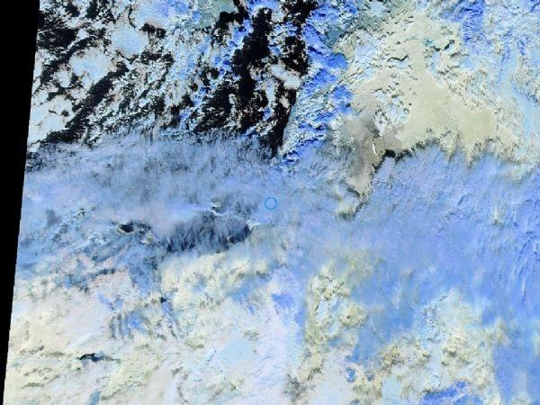 """كميات هائلة من الغيوم الركامية """"الزرقاء"""" الماطرة تتجه نحو الأرض المباركة مصاحبة لـ ماروس"""