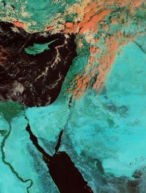 الأقمار الصناعيه اليوم من وكالة ناسا لفلسطين ومحيطها | 20/9/2013