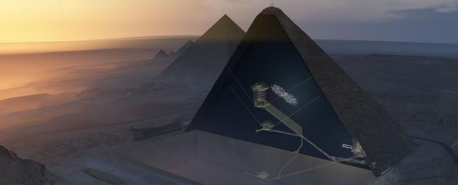 اكتشاف تاريخي : علماء يجدون فراغًا هائلًا مخفيًّا في هرم الجيزة الأكبر