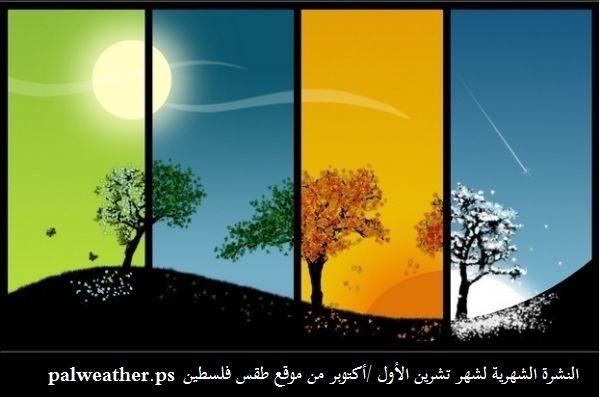 النشرة الشهرية لشهر تشرين الأول - أكتوبر ..فعاليات جوية منتظرة وأمطار أعلى من معدلاتها