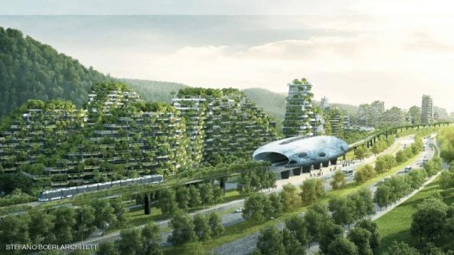 """الصين تشيد أول مدينة """"مغطاة بالغابات"""" في العالم"""