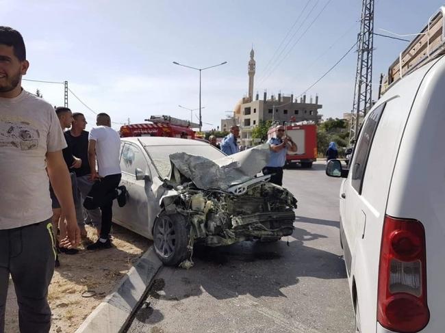 حادث سير مروع غرب نابلس وإصابات حرجة جداً