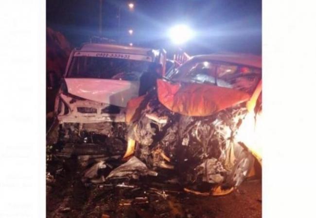 حادث سير مروع قرب بيت ايل بين سيارة مستوطنين وأخرى فلسطينية