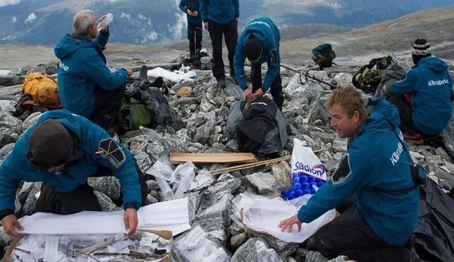 """ذوبان جبل جليدي بالنرويج والكشف عن """"مفاجأة كبرى""""!"""