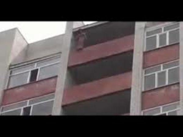 بالفيديو: رجل إطفاء ينقذ فتاة تحاول الإنتحار على طريقة النينجا!