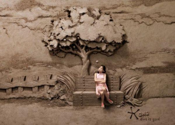 من قال أن اللعب بالأوساخ أمرٌ سيئ؟ فنان يصنع منحوتات رملية مذهلة بشكل لا يصدق