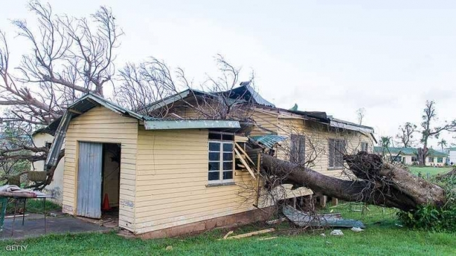 """من بينها البرلمان.. انهيار مبان في تونغا بعد إعصار """"جيتا"""""""