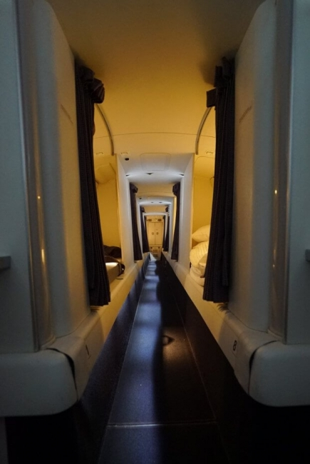 كيف تبدو أماكن راحة طاقم الطائرة في الرحلات الطويلة
