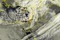 الأقمار الصناعية ترصد الغيوم الركامية الكثيفة المرافقة للمنخفض الجوي صباح اليوم 27-12-2016