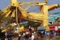 رافعة تدهس 10 أشخاص في حوض لبناء السفن بالهند... بالفيديو