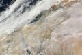 الغيوم الكثيفه تسيطر على أجواء فلسطين والشام ومصر