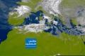 صور الأقمار الصناعية : كميات ضخمة من الغيوم الركامية الماطرة قادمة إلي فلسطين