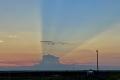 حجبت شروق الشمس بالكامل.. التقاط صور مثيرة لعاصفة رعدية بلغ طولها 120 كيلومتراً بولاية أمريكية