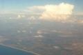 صورة مميزة لغيوم عملاقة فوق الأغوار الوسطى تم تصويرها من الطائرة يوم الأحد الماضي