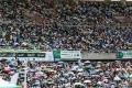 حشود كبيرة في ملعب لكرة القدم بإفريقيا.. الجماهير توافدت لحضور مسابقة للقرآن الكريم