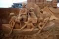 لأن الإبداع لا حدود له: منحوتات فنية مدهشة على الرمال