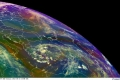 كميات كبيرة من الغيوم تغطي السواحل الشرقية لبلاد الشام وشرق المتوسط