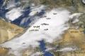 معالم فلسطين والشام وأجزاء من مصر والعراق تختفي عن أنظار الأقمار الصناعيه بسبب الغيوم الهائلة