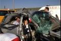 مصرع سيدة وإصابة زوجها و15 أخرين في حادث سير مروع جنوب نابلس