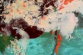 """أقمار وكالة ناسا ترصد الثلوج المتراكمة جرّاء منخفض """"ديشوم"""" من الفضاء لفلسطين والاردن"""