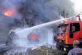 إندلاع حريق هائل في عمارتين سكنيتين غرب غزة