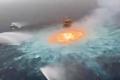 مشهد نادر.. حلقة نار تظهر من داخل مياه خليج المكسيك