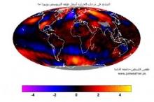 طقس فلسطين:+0.31 الشذوذ في درجات الحراره العالميه خلال يونيو الماضي ...
