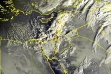 الأقمار الصناعية صباح اليوم ...السحب الركامية تستعد لدخول البلاد