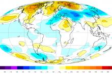 درجات الحرارة العالمية تواصل إنخفاضها للشهر الثامن على التوالي......أين هو ...