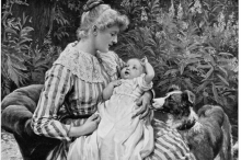 الأمومة عبر التاريخ.. بهذه الطرق اعتنت المرأة بأطفالها وتنبأت بنوع ...