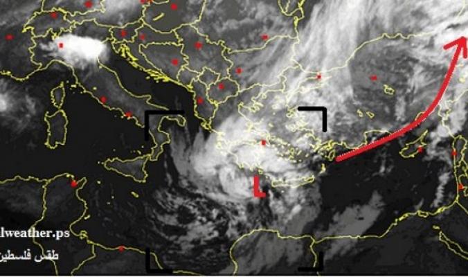 المنخفض العميق يتمركز قرب كريت واليونان ..ويتجه شرقاً ليضرب المنطقة لاحقاً بمشيئة الله تعالى
