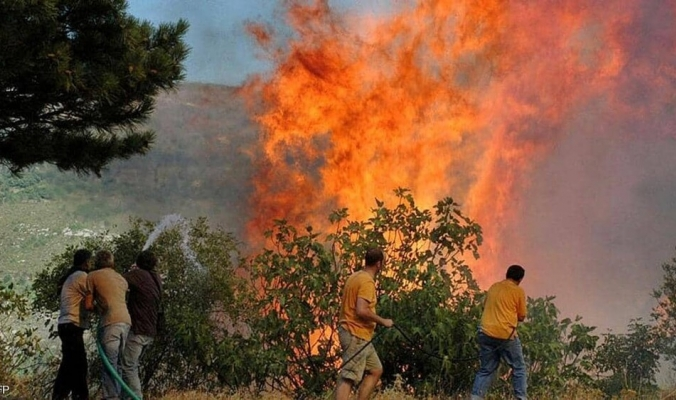 حريق كبير بجبال القدس وإخلاء منازل للمستوطنين