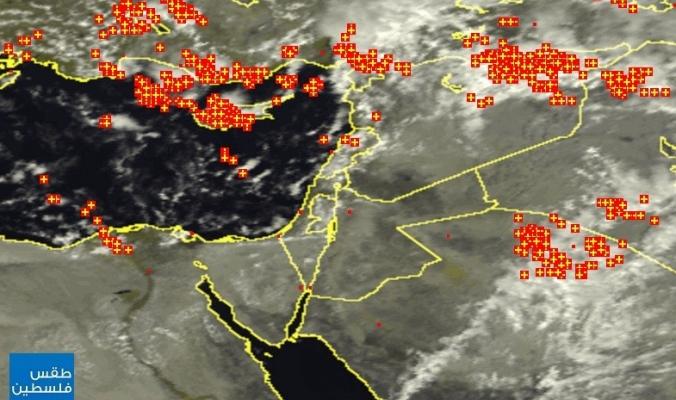 الأقمار الصناعية ظهيرة اليوم الثلاثاء   14/10/2014