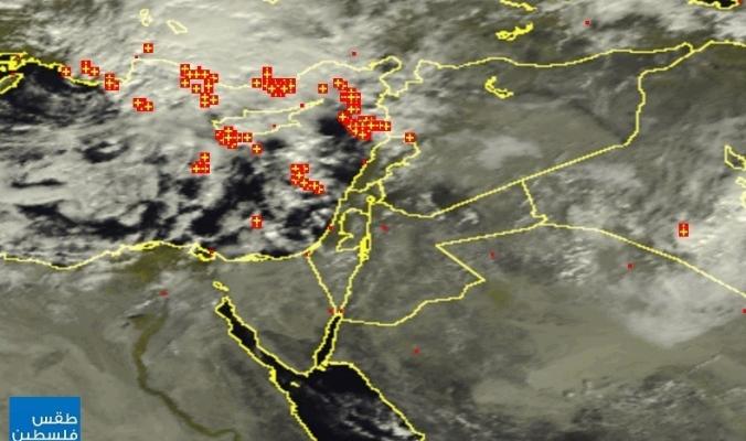 """الأقمار الصناعية ترصد تشكل منخفض""""رامين"""" في البحر المتوسط هذه الأثناء   25/11/2014"""