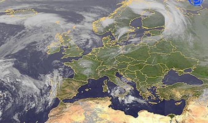 صورة لسماء منطقتنا من الأقمار الصناعية